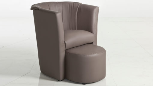 Sessel charly mit hocker kawoo for Sessel charly